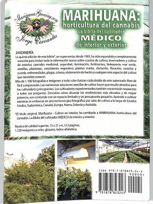 Marihuana  Horticultura Del Cannabis   La Biblia Del Cultivador Medico De Interior Y Exterior